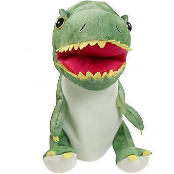 Vihreä muhkea dinosaurus h nukke t-rex täytetty lelu avoin siirrettävä suu luova rooli leikki lahja lapsille taaperot syntymäpäivänä dt6548