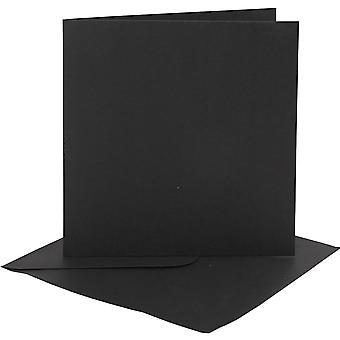 4 Zwarte 6x6-kaarten en enveloppen voor kaartmaken | Kaart die Spaties maakt