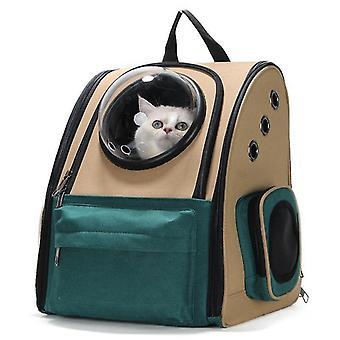 כלב חתול מחוץ לדלת תרמיל נייד (אדום1)