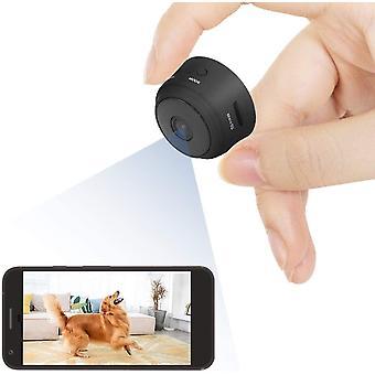 ميني واي فاي HD كاميرا تجسس - المراقبة مموهة مع كاشف الحركة والرؤية الليلية (أسود)