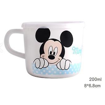 200ml Cartoon Cup Cute Baby Water Milk Mug Children Glass  With Lid And Ear Kindergarten Tableware