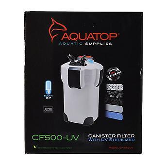 Aquatop UV Canister Filter CF Series - CF500-UV - 9 Watts - 525 GPH