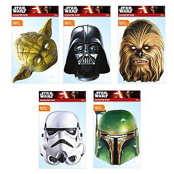 Star Wars Classic Official 2D Card Party Fancy Dress Masks Variety 5 Pack