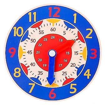 Jigsaw puzzles childrens montessori wooden clock teaching aid toys blue