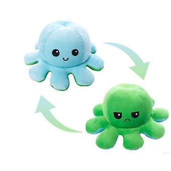 Plush Octopus Reversible Cute Flip Soft Toy Gift Happy Sad Pink Blue