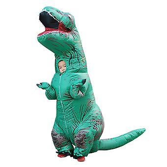 Green Children Tyrannosaurus Rex Inflatable Clothing Children's Dinosaur Costume