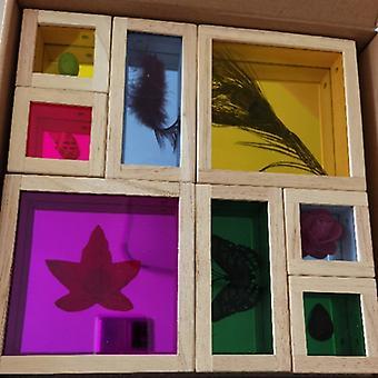 8pcsキッドブロック赤ちゃん早期教育クリエイティブおもちゃ学習教育おもちゃウッド