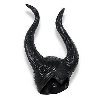 Halloween kostumer Maleficent Horns Deluxe Medaljon Black Evil Hat for kvinder