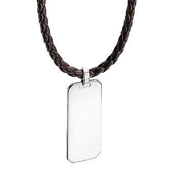 Identità di argento 925 targhetta collana