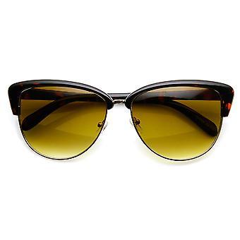 Womens Fashion Half Frame Butterfly Bow Tie Cat Eye Sunglasses