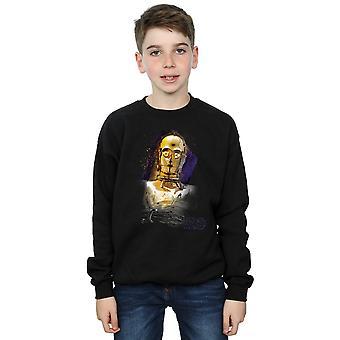 Star Wars Jungs die letzten Jedi C-3PO gebürstet Sweatshirt
