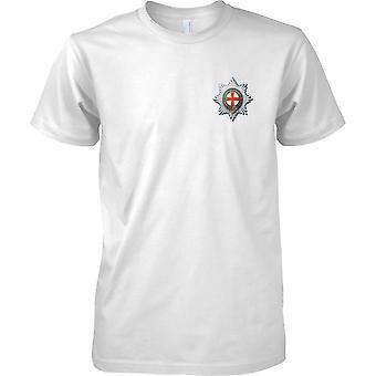 Lisensoitu MOD-British Army Coldstream vartijat-lasten rinnassa Design T-paita