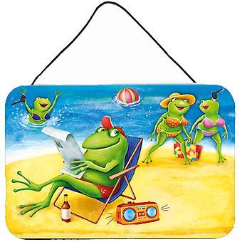 Carolines schatten APH0080DS812 kikkers op het strand muur of deur hangen Prints