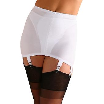 Nylon Dreams NDG8 Women's White Solid Colour Light Control Slimming Shaping Girdle