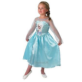Kinder Kostüme ELSA klassisches Kostüm Kleid eingefroren
