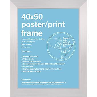 40x50cm Square Silver Satin Mini Frame