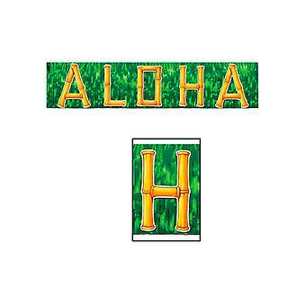 Metallic Aloha Fringe Banner