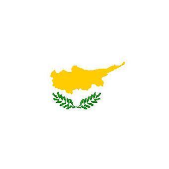 Cypriotische vlag 5 ft x 3 ft met oogjes voor verkeerd-om