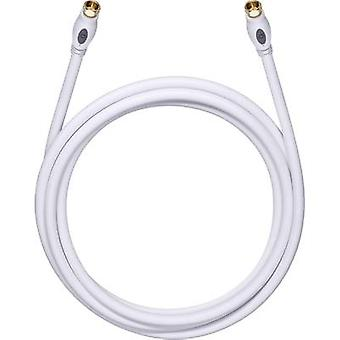 Antennas, SAT Cable [1x F plug - 1x F plug] 2.20 m 120 dB gold plated connectors White Oehlbach Transmission Plus S