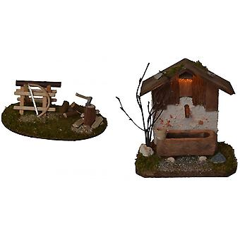 Fountain House with lighting and wood wood set for crib crib barn crib accessories