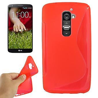 携帯電話シェルの保護 TPU モバイル LG コンボイ G2 赤