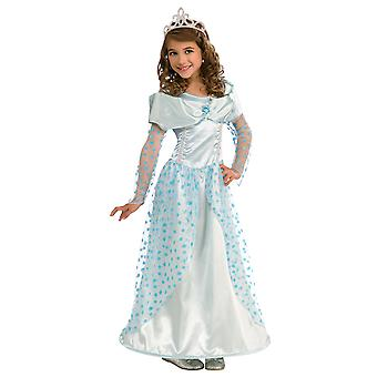 Blue Star Princess Snow Queen Elsa Cinderella Fairytale Girls Costume