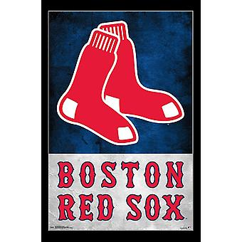 Boston Red Sox - Logo Poster afdrukken
