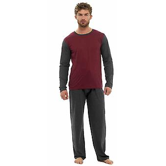 Tom Franks Mens Bumbac Jersey Două Ton Nightwear Pijamale Lounge Wear