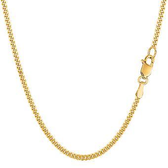 """14 k amarillo oro """"gourmette"""" cadena collar, 2,0 mm"""