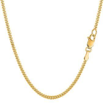 14 k желтое золото Gourmette цепи ожерелье, 2.0 мм