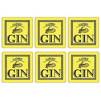 Doamnelor ' gin set de 6 coastere, lamaie