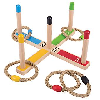 Bigjigs speelgoed houten Quoits Indoor Outdoor heisa familiespel