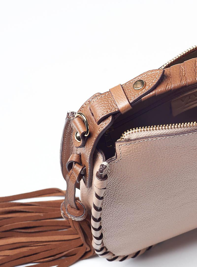 Viver Avril Pearl Leather Womens Satchel