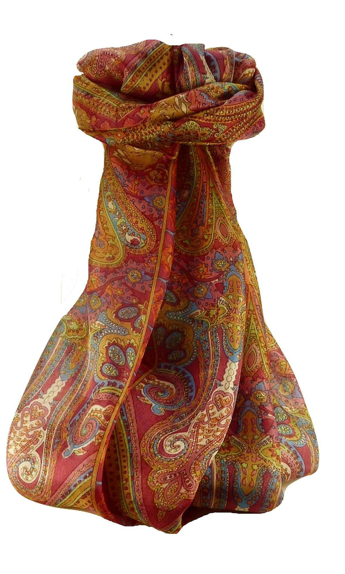 Mulberry Silk Traditional Long Scarf Godavary Rose by Pashmina & Silk