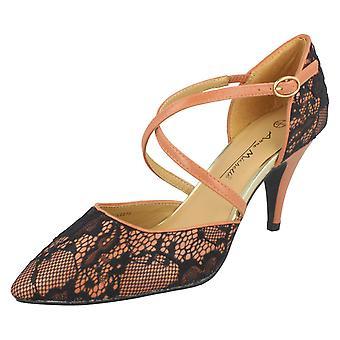 Ladies Anne Michelle Pointed Toe Court Shoes L2273