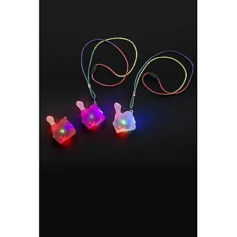 Sucking Thumb Flashing Necklace, Assorted Colours, Light Up