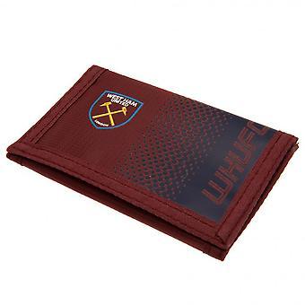 West Ham United FC Fade Design Touch festing Nylon lommebok