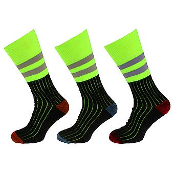Mens High-Viz Work Socks (3 Pairs)