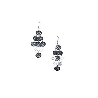 Lovemystyle Silver Smiley Face Dangly Earrings