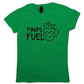 Mãe Combustível, Amor de Café chá, camiseta engraçada das mulheres - Dia das Mães Presenteá-la