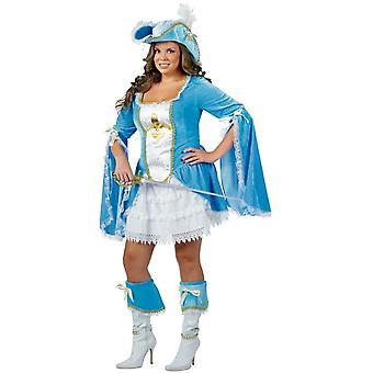 Plus Size Miss Musketeer Costume for women
