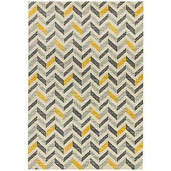 Colt Cl08 Chevron Rugs In Mustard By Asiatic