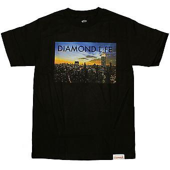 Diamond Supply Co Diamond Life NY T-shirt Black