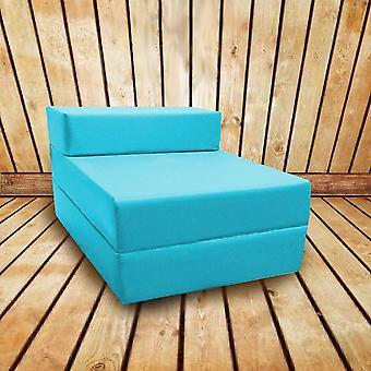 Confortável Fold Out Z Bed Chair em turquesa. Macio, confortável e leve com uma tampa impermeável retirável. Disponível em 10 Cores.