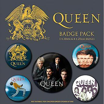Queen button badge set