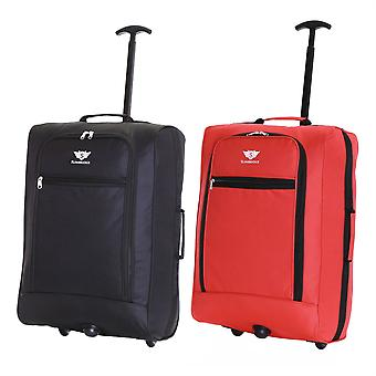 Slimbridge Montecorto Set of 2 Cabin Luggage Bags, (Set of Black and Red)