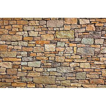 Tapete Wandbild Steinwand