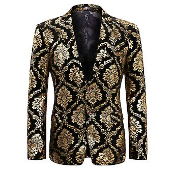 Allthemen Men's Blazer Party Cena stampata Stage Performance Casual Suit Giacca