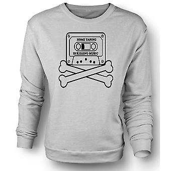Mens Sweatshirt Home Taping Piracy - Funny