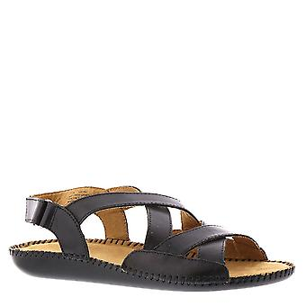 Audizioni Donne Madrid Leather Open Toe Casual Slingback Sandals